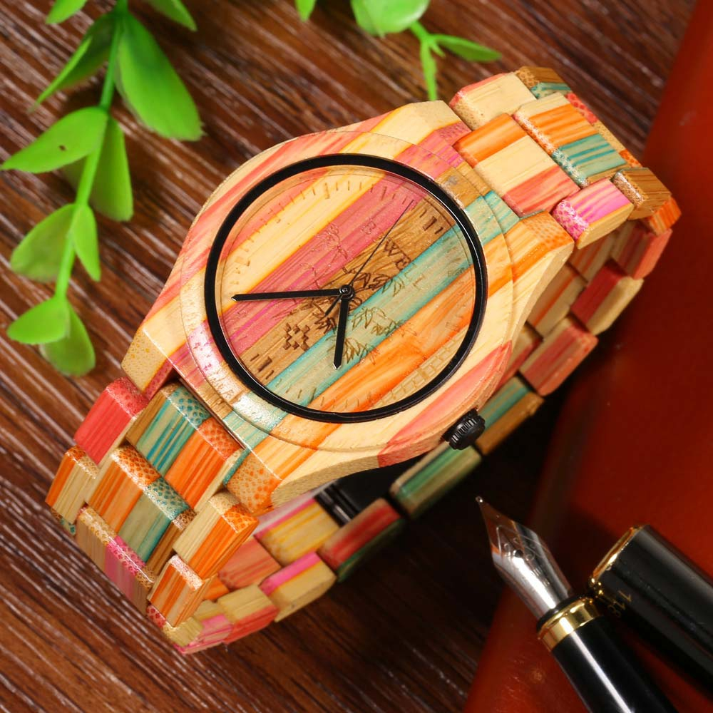 Full Bamboo Watch Men Luxury Brand BEWELL New Natural Quartz Wooden Bamboo Watch Male Clock Wood Watch With Bamboo Band new handmade bamboo sunglasses men wooden sunglasses women polarized brand wood eyeglasses frame ls3044