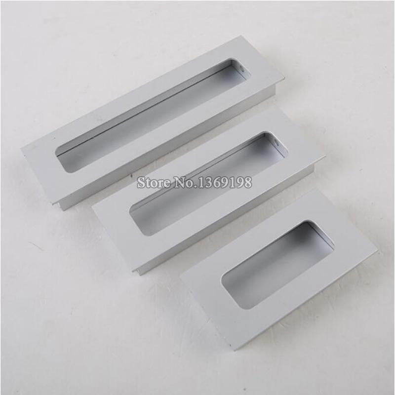 ... Hot 10PCS Cabinet Handles Hidden Recessed Pulls Cupboard Wardrobe  Drawer Concealed Handle Sliding Door Handles And ...