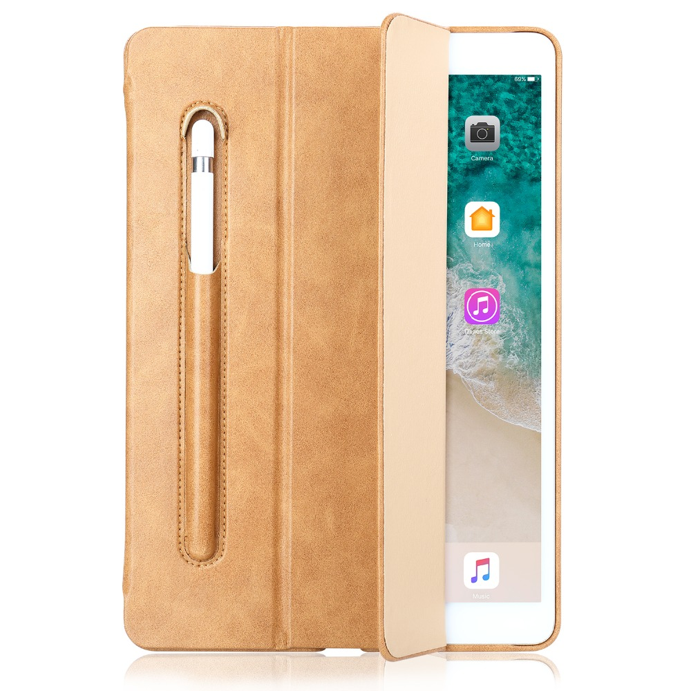 Leather Case For Ipad Pro 10.5 Inch With Kickstand Pencil Slot Luxury Shockproof Folio Tablet Cover For Ipad Pro 10.5