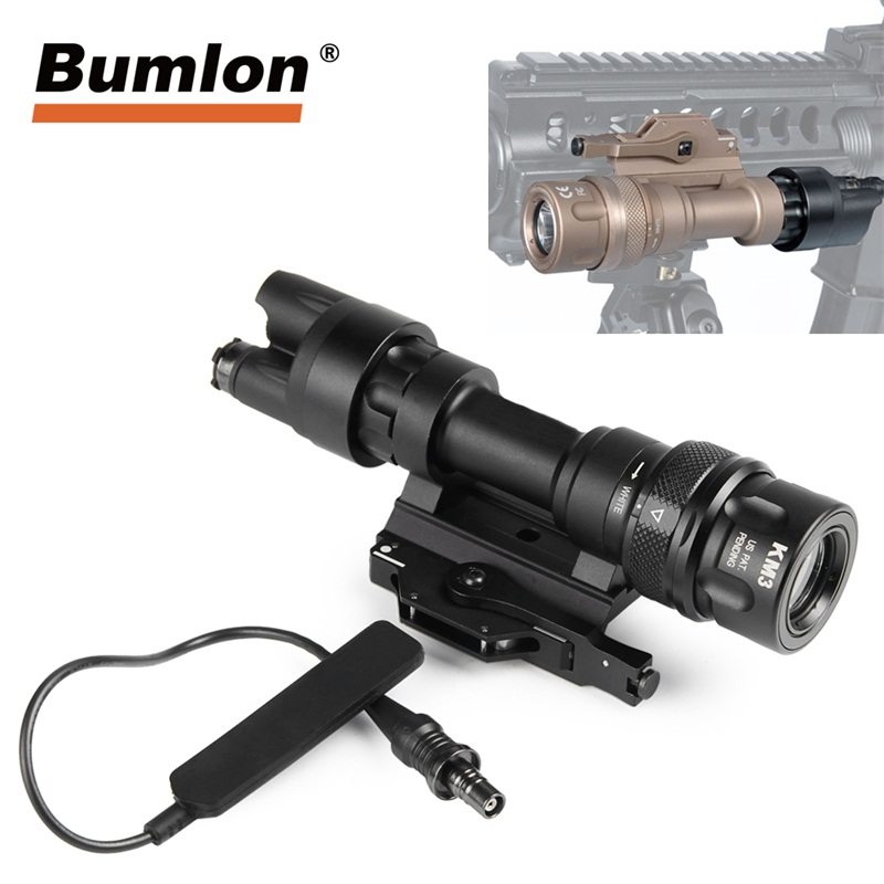 M600 New Style Flashlight Improved M952 12V LED Light 400 Lumens with QD M93 Mount with Mouse Tail Weapon Light Hunting RL8-20M600 New Style Flashlight Improved M952 12V LED Light 400 Lumens with QD M93 Mount with Mouse Tail Weapon Light Hunting RL8-20