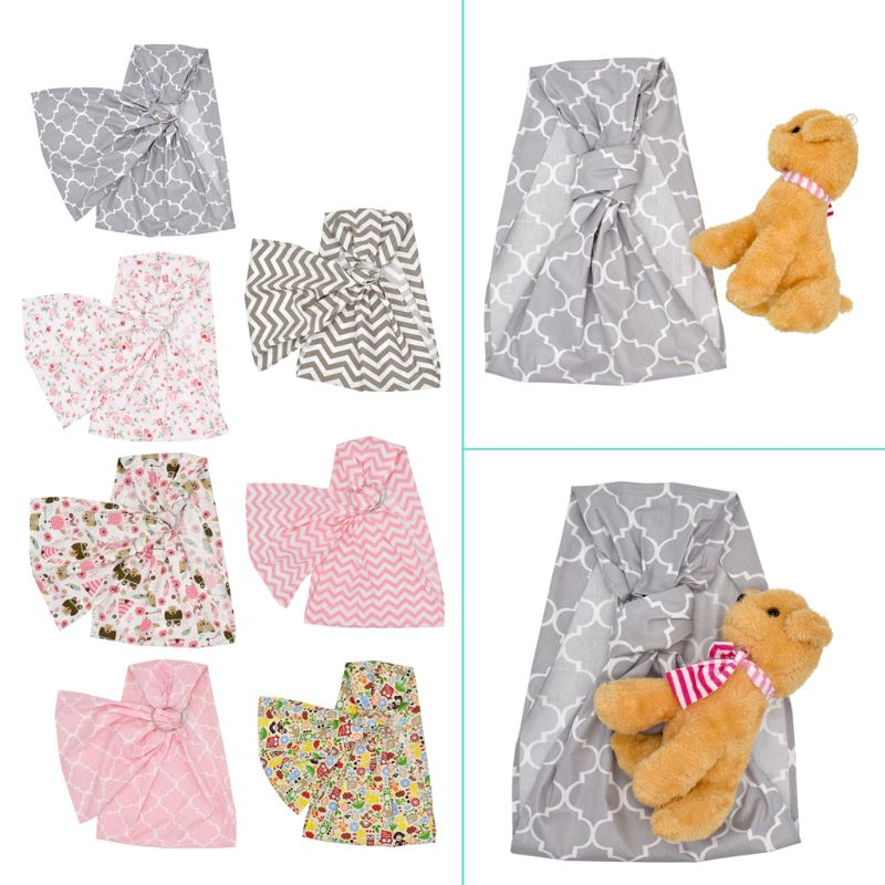 Baby Doll Carrier Toy Ring Sling Mei Tai Sling Toy For Kids Children Toddler Gift Stripes Flowers 7 Choices in Dolls Accessories from Toys Hobbies