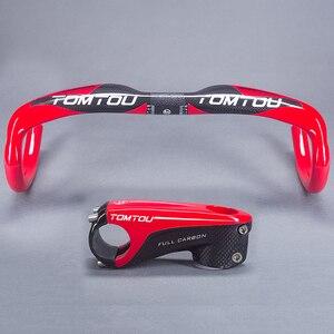 TOMTOU супер светильник, полностью из углеродного волокна, для дорожного руля/изогнутого стержня, глянцевый, красный, высокое качество, велоси...