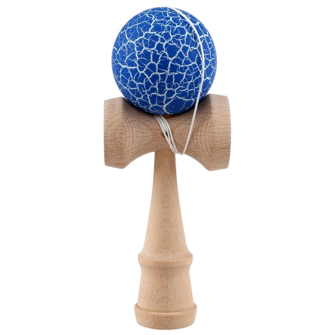 Pintara grietas Kendama Bola de malabares Juego de Pelota tradicional japonés juguete juguetes educativos para niños-azul