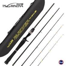 TSURINOYA PARTNER PNC 634UL 1.89m 4 Section 2 Tips Casting Fishing Rod Carbon Fiber Lure Rod Vara De Pesca Carp Fishing Tackle