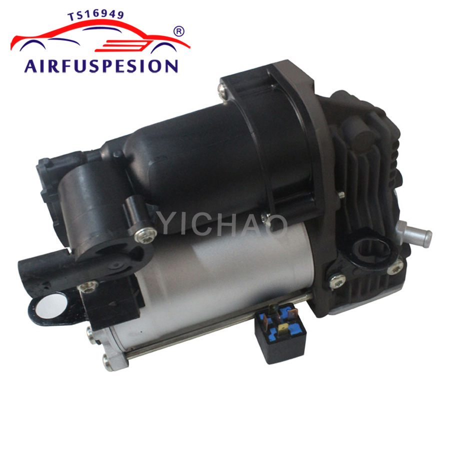 For Mercedes <font><b>GL</b></font> Class <font><b>X164</b></font> ML Class W164 Air Suspension Compressor Pump With Relay 1643200304 1643200204 2005-2012 image