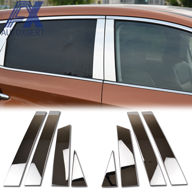 Auto Parts Stainless Steel Window Pillar Posts trim 8pcs For Nissan Murano 2015