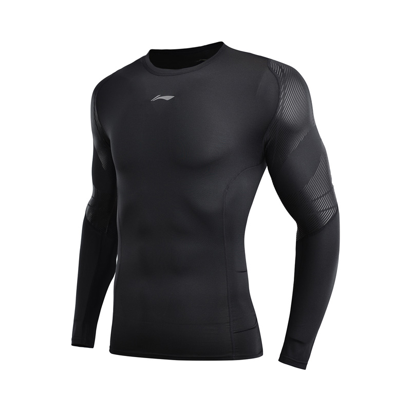 Image 4 - (Break Code)Li Ning Men Base Layer AT DRY Tight Fit 88% Polyester 12% Spandex Long Sleeve LiNing Sports T shirt AUDN141 MTL1002Trainning & Exercise T-shirts   -