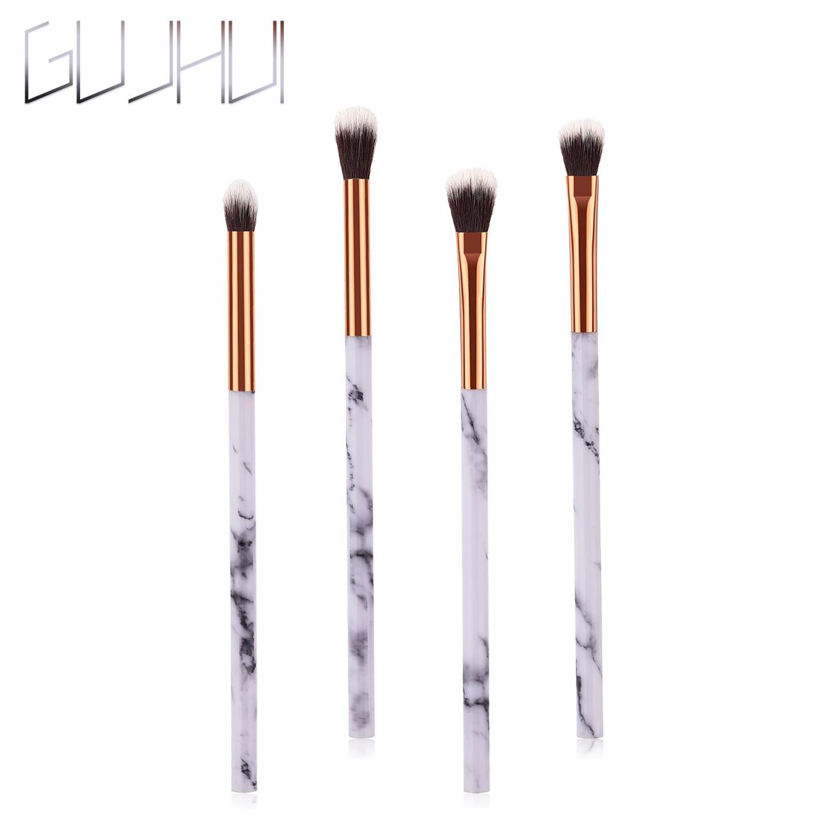 ELECOOL 1/4 шт. кисти для макияжа глаз с Мрамор текстуры ручка Мода нейлоновые волосы косметическое средство для теней фонд инструменты