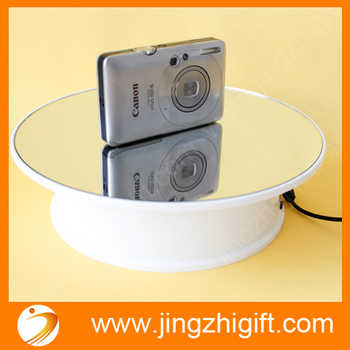 20cm Electronic Display stand With rotating stand holder Battery and AC adaptor powered