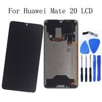 6,53 Оригинальный ЖК дисплей для huawei mate 20 lcd + сенсорный дигитайзер Замена для huawei mate 20 MT20 Запчасти для мобильных телефонов