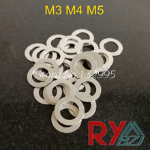 Stainless steel Flat Washer Ultrathin gasket Ultra-thin shim M3 M4 M5 Thickness 0.1 0.2 0.3 0.5 1