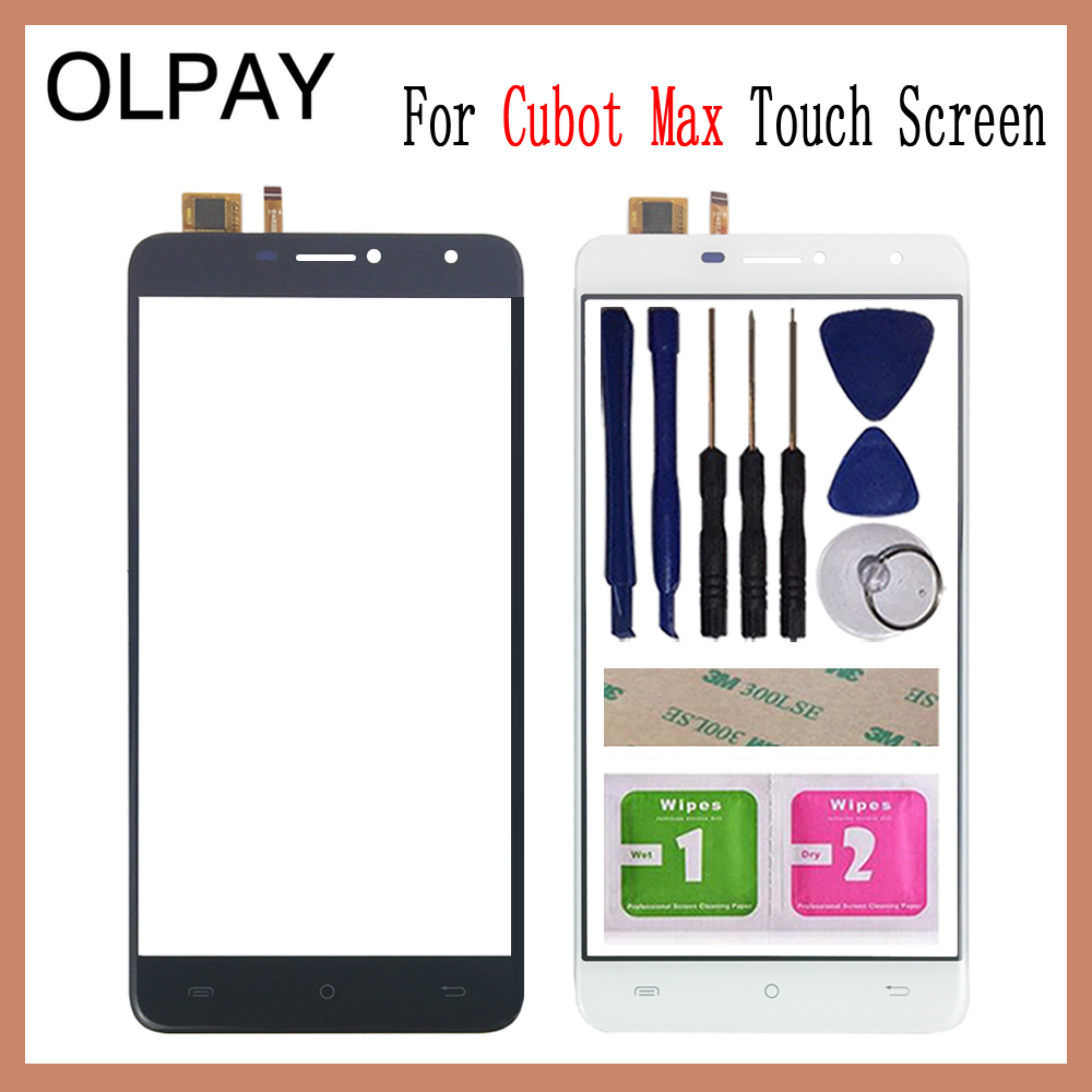 OLPAY 6.0 For Cubot Max Touch Screen Digitizer Panel Repair Parts Touchscreen Front Glass Lens Sensor Free Adhesive+WipesOLPAY 6.0 For Cubot Max Touch Screen Digitizer Panel Repair Parts Touchscreen Front Glass Lens Sensor Free Adhesive+Wipes