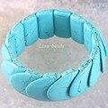 """Бесплатная доставка мода ювелирных изделий синий StretchTurquoise браслет 7.5 """" 1 шт. H1394"""