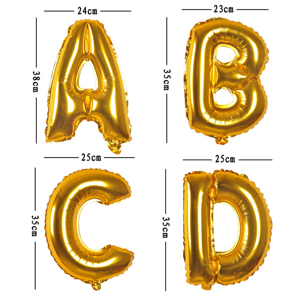 1pc 30/40inch Aluminium Foil Letter Ballons Accessories Kids Event Festive Supplies Birthday Party Decoration Wedding Balloons