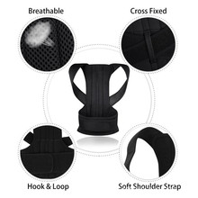 Men Women Adjustable Back Posture Corrector Support Correction Shoulder Lumbar Brace Spine Belt