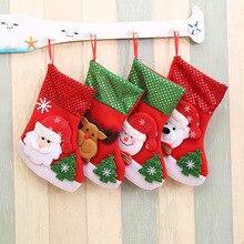 2020 New Year Christmas gift Lovely Elk christmas stockings Tree Decoration Pendant  bag