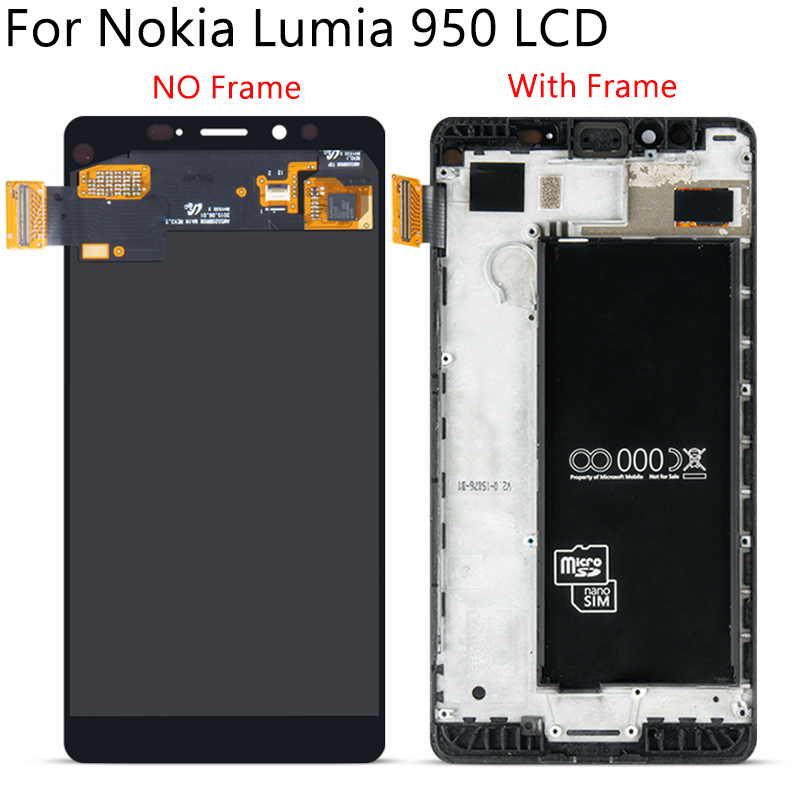 """Image 2 - 5.2"""" Tested For Nokia Lumia 950 RM 1104 1106 1118 LCD Display Touch Screen With Frame Digitizer Assembly Replacement Free Tools-in Mobile Phone LCD Screens from Cellphones & Telecommunications"""