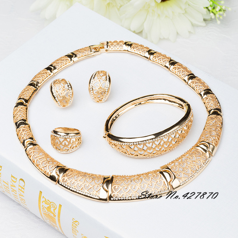 New Arrival African Costume Jewelry Sets 18K Gold Plated Fashion