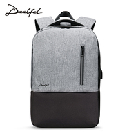 Deelfel Anti Thief USB Bagpack 15 6inch Laptop Backpack For Women Men School Backpack Bag For