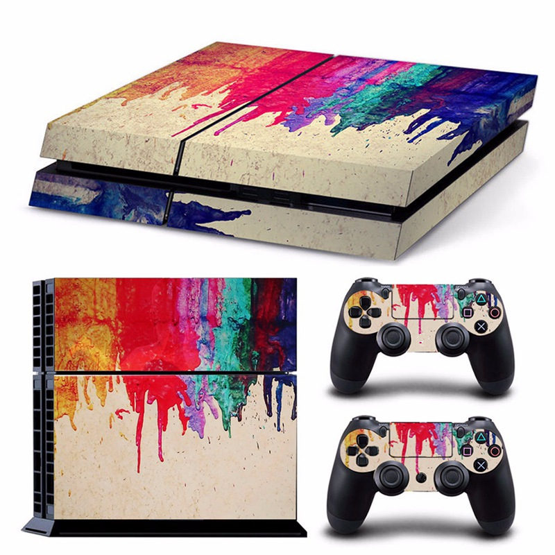 New Vinyl Decal Skin Sticker For PS4 For Sony For Playstation 4 Console Set + 2 Controller Skins Stickers цена