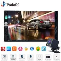 Podofo 7 HD Touch Screen Car Radio 2 Din 2din In Dash Auto Audio Player Stereo