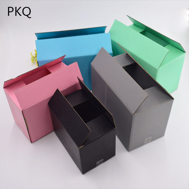 6f61d9b97df 21x11x14cm 10pcs Large pink black Paper Kraft Box Post Craft Packing Box  Packaging Storage Kraft Paper shipping Box Mailing Box -in Gift Bags    Wrapping ...