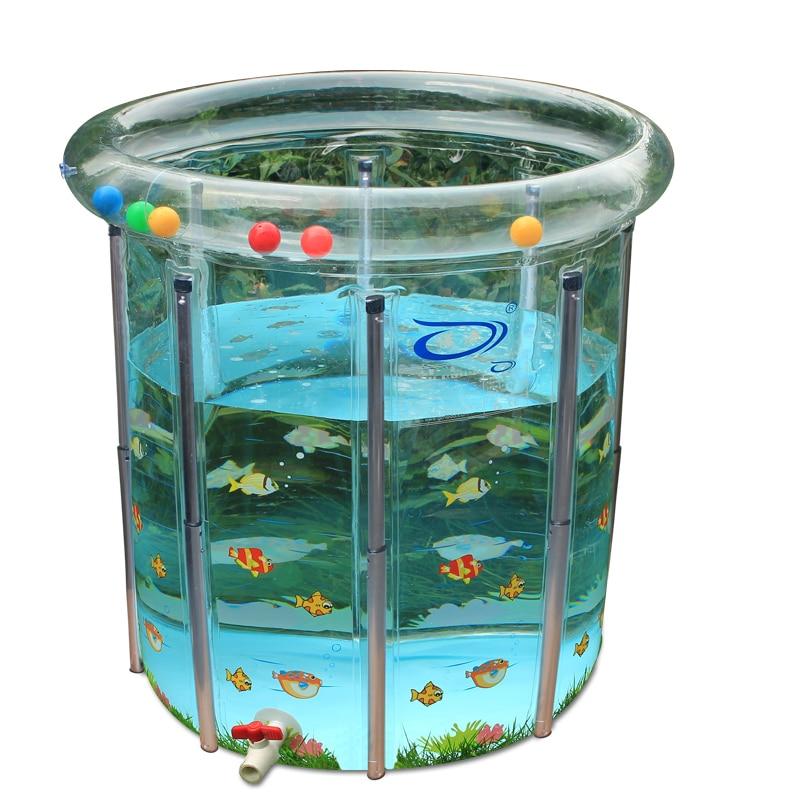 Portable Transparent grand bébé infantile piscine PVC gonflable piscine enfant en bas âge jeu d'eau piscine bébé bain piscine