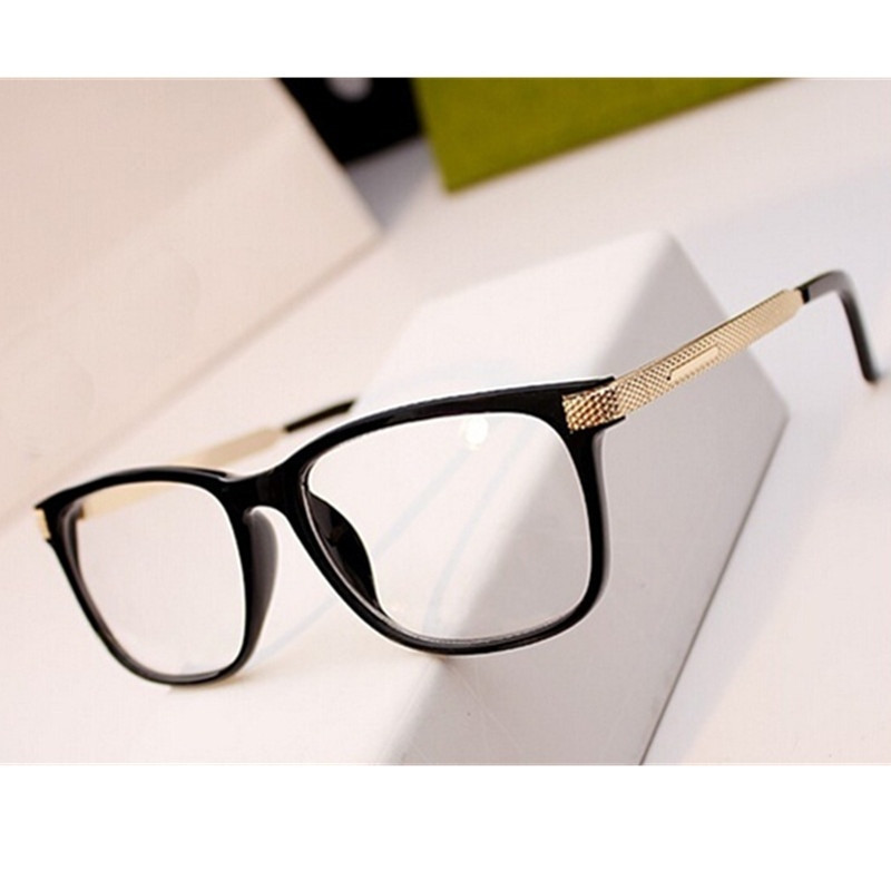 Fashion Metal Glasses Women Retro Vintage Reading Myopia Eyeglasses Frame Men Square Glasses Optical Clear Eyewear Oculos
