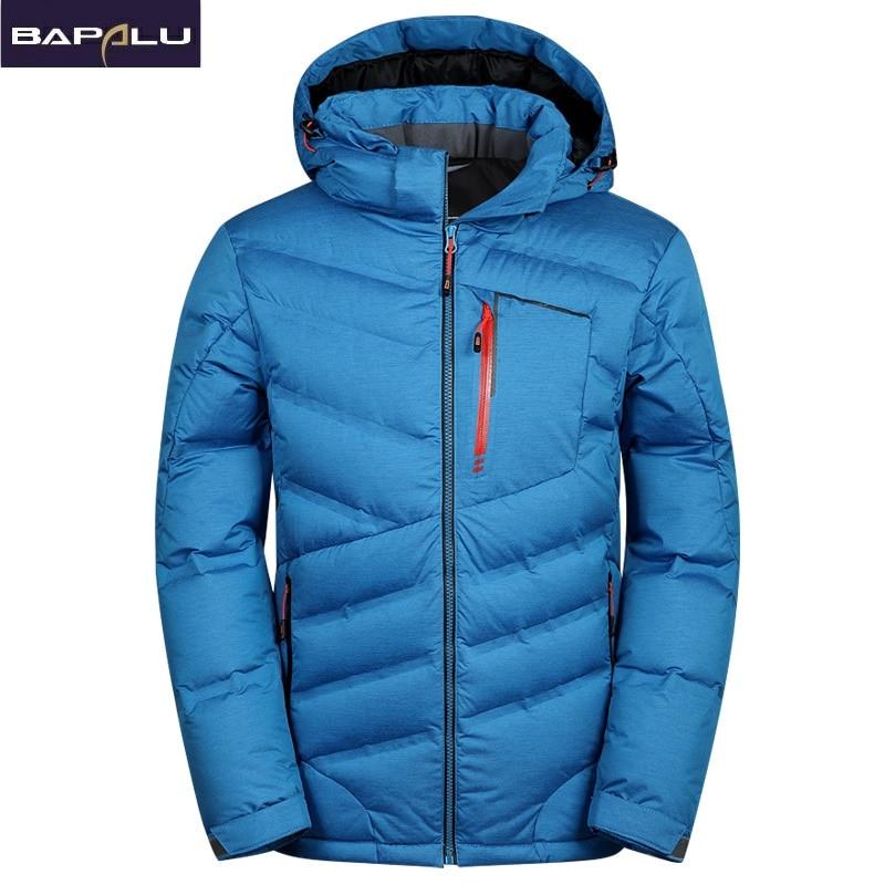 2018 New fashion Warm White Duck Winter Coat Hooded Mens Waterproof windbreak Male Casual hoodie Warm Down Jacket Coat-in Down Jackets from Men's Clothing    1