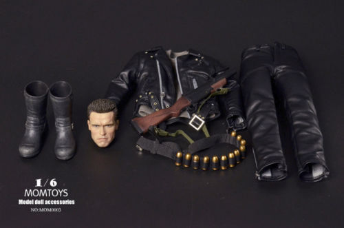17 18 ...  sc 1 st  AliExpress.com & Custom 1/6 Terminator Head Sculpt u0026 Costume Set for Hottoys T800 ...