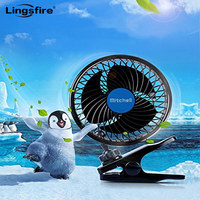 12V 6 inch Car Clip Fan Powerful Quiet Automobile Cooling Fan Ventilation Electric Car Fans Cigarette Lighter Plug for Summer