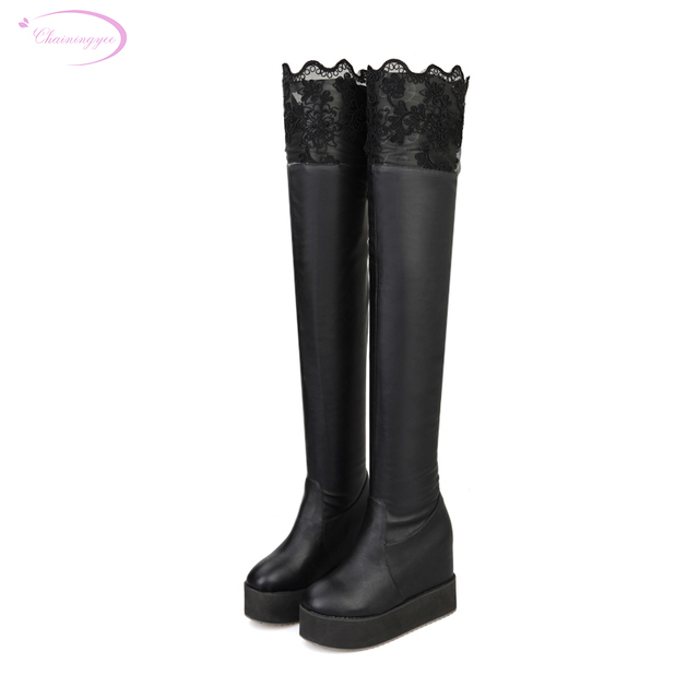 Chainingyee Knight Style Over Knee High Boot Fashion -3868