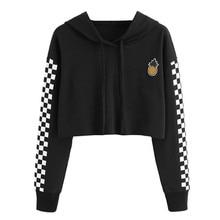 YZ Large Size S-3xl Womens Sweatshirt 2019 Autumn New Femme Hoodies Long Sleeve Moletom Printed Short Hoodie for Women