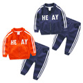 Baby letter suits spring 2017 new boy children's wear children's casual clothes  two-piece jackets+ pants sports suits for boys