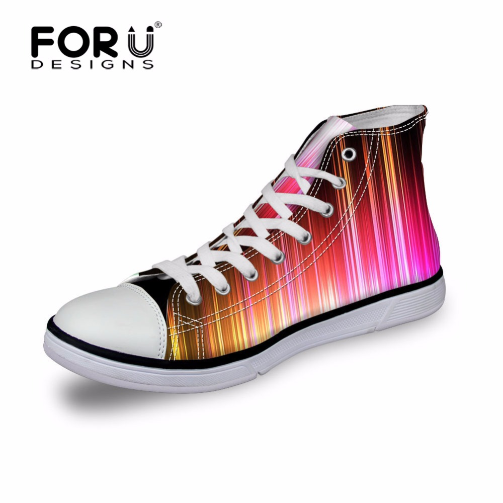FORUDESIGNS Graffiti Classic Women Casual Shoes,High Top Canvas Shoes for Woman,2017 Ladies Female Walking Shoes tenis feminino