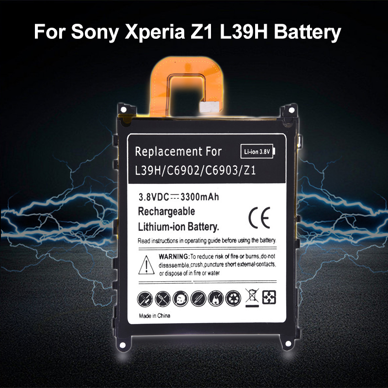 3.8V 3300mAh Replace Built-in Lithium Battery For Sony Xperia Z1 L39H C6902 C6903 Replacement Battery For Sony Mobile Phone