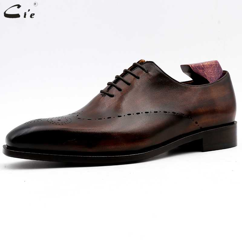 cie men dress shoes leather mens wedding men office shoes man brogue genuine calf leather formal office leather handmade No.11