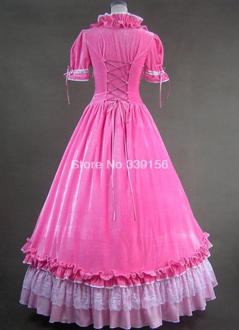 """Новое поступление милое розовое длинное готическое платье """"Виктория"""" Винтажные вечерние платья для женщин"""