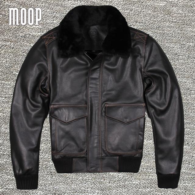 Negro chaqueta de la motocicleta chaqueta de cuero genuino 100% piel de vaca gruesa parka chaqueta moto hombre veste cuir homme cappotto lt1069