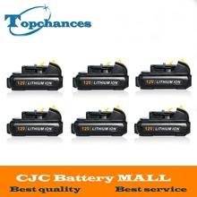 6PCS New High Quality power tool Battery For Dewalt 12V 2.0Ah 2000mah MAX Li-ion DCB120 DCD710 DCF813 DCF815 DCF610