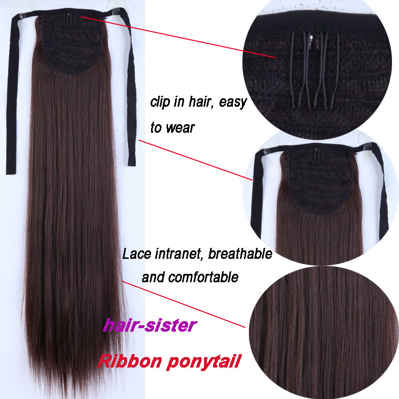 S noilite long curly tie up ponytail synthetic clip in hair s noilite long curly tie up ponytail synthetic clip in hair extension real natural ribbon wrap around on hairpieces in synthetic ponytails from hair pmusecretfo Images
