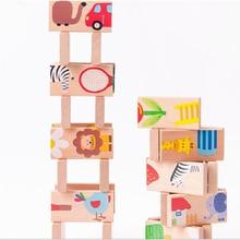 Set de bloques de construcción de animales