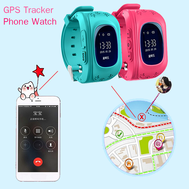 Smart Phone Watch Children Kid Wristwatch SOS GPS Locator Tracker Anti-Lost Child Guard Smartwatch for iOS Android Gifts Box