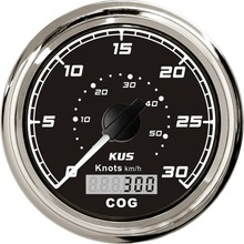 Gauge Yachts Speedometer-Speed KUS Boat 30knots 85mm GPS Waterproof for 12V/24V