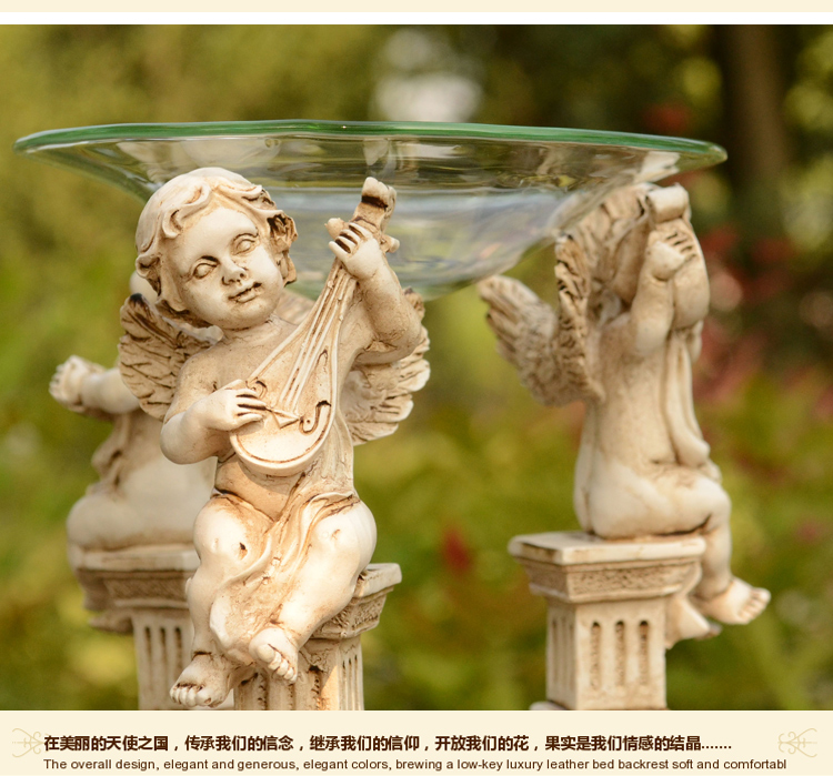 Europa Ángel TeaLight Candle Holder Aroma Furnace Burner Wedding - Decoración del hogar - foto 6