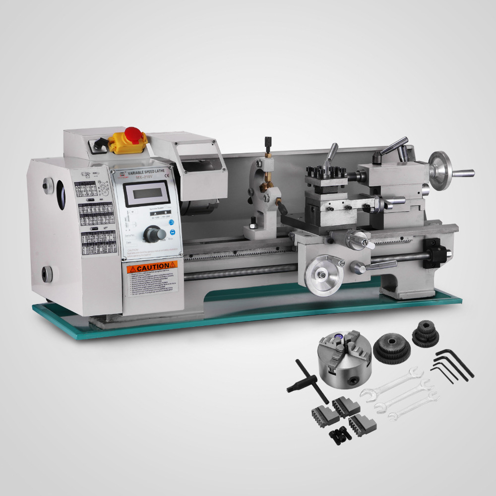 750W Lathe Metal  Inch Metal Processing Variable Speed Lathe Metal With 8x16