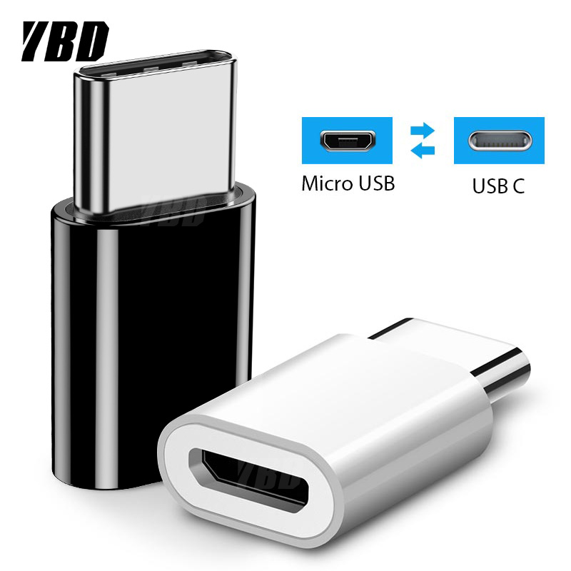YBD Type-c Male To Micro USB Female Adapter OTG Micro USB To Type C Charger Plug Adapter Converter Micro USB To USB C Adapter