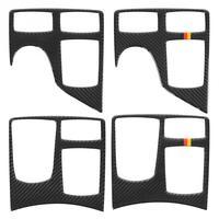 Carbon Fiber Car Armrest Box Panel Cover Trim Sticker for Mercedes GLE GLS M Car Accessories Carbon Fiber Armrest Box Sticker