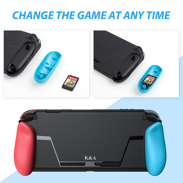Купить с кэшбэком Soft Protective Case for Nintend Switch NS NX Console TPU Shell Handle Grip Hand hold with Game Card Slot Anti-Shock Cover Caps