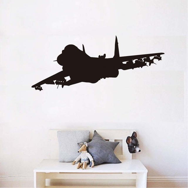 Jet plane wall decor